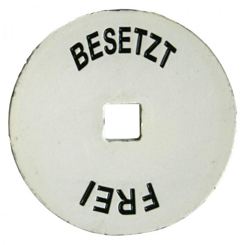 WC Schilder BESETZT - FREI Zubehör für Türen und WC Verschluss Türbeschlag, Kleinteil