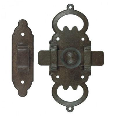 Türriegel Verschlussriegel Möbel Türen Schrank Verschluss aus Eisen im Antik Style. Rustikaler Beschlag für Schränke.