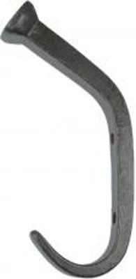 Alte Garderobenhaken Handtuchhaken Eisen Türgarderobe in Hufnagel Form für rustikales Flair Zuhause und im Garten.