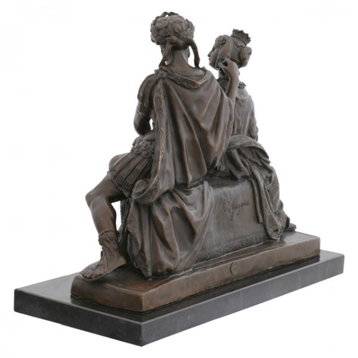 Wohnen und dekorieren k nigin feldherr bronzefigur mit - Antike gartendeko ...