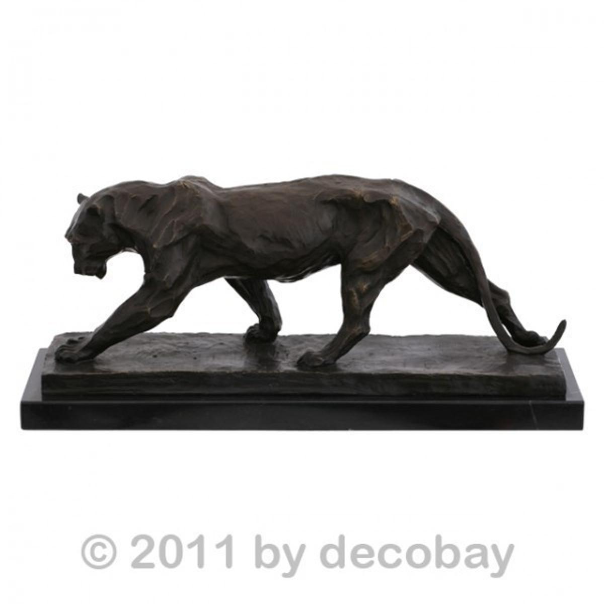 Gartendekoration Tiere antike Bronzefiguren Jaguar Wildkatze als ...