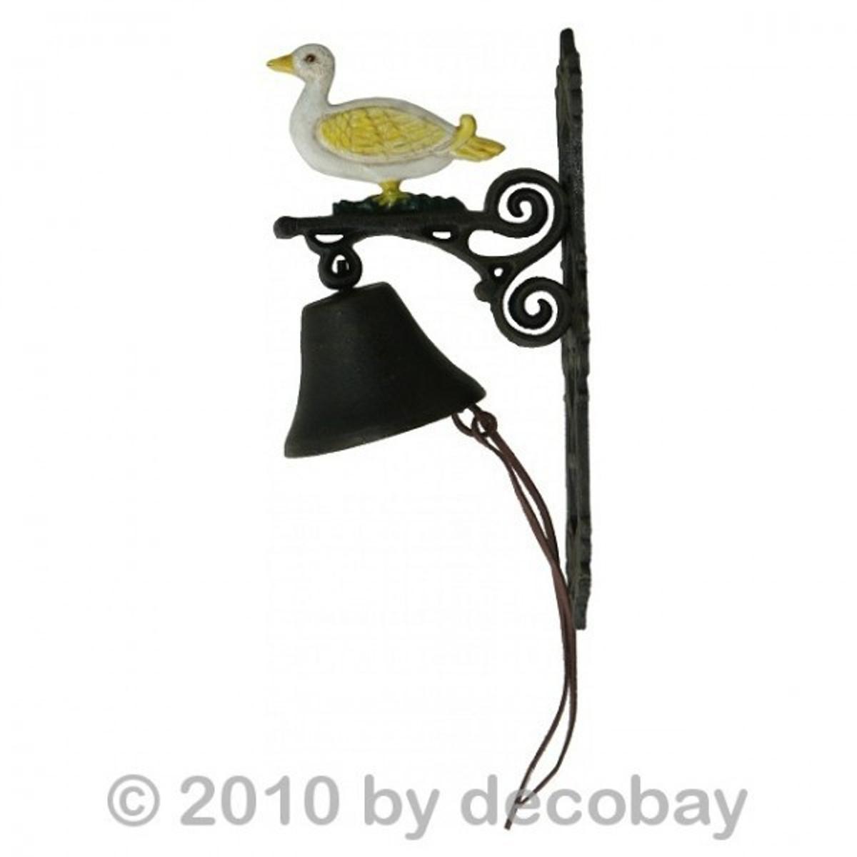 Gusseisen Glocke Ente Motiv Hauseingang Klingel Garten Deko bei uns sogar online im Shop bestellbar.