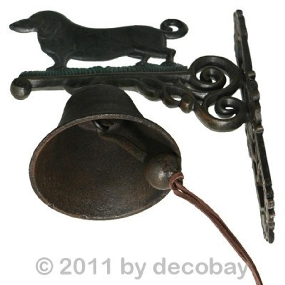 Glocken Gusseiserne Türglocke Dackel Antik Dekoration einen ganz besonderer Wächter für Ihre Haustür bestellen.