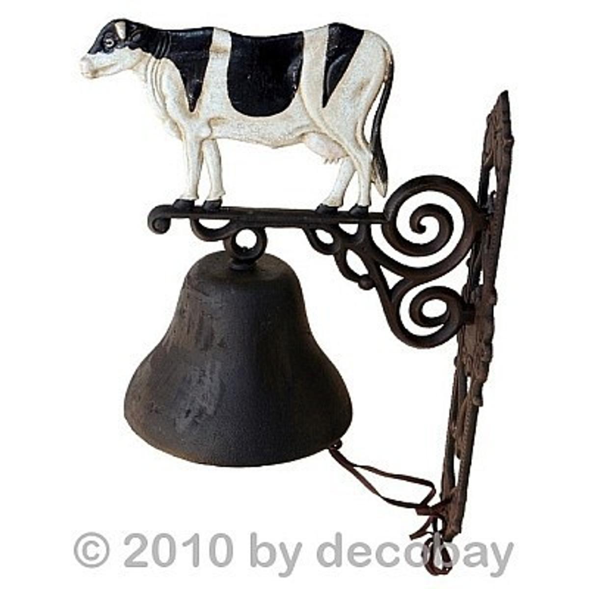 Kuhglocke Gusseisen als Wand Glocke gut hörbar. Urige Deko nicht nur für Milchbauern.