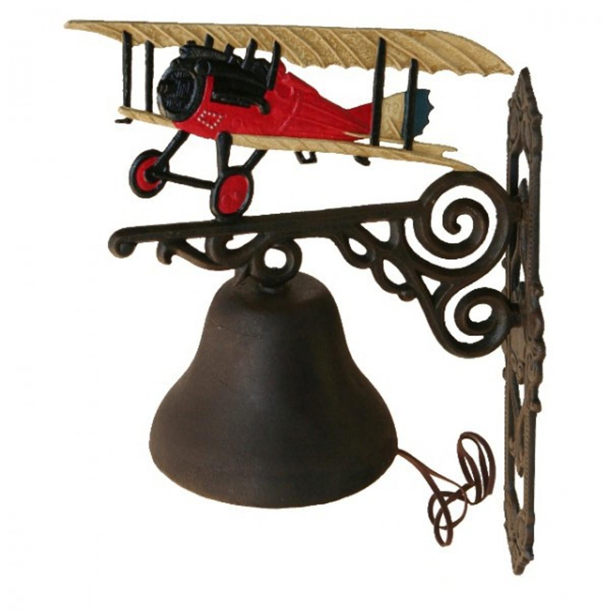 Wandglocke Doppeldecker Glocke Dekoration rotes Flugzeug bestellen Sie jetzt gleich für sich oder als Geschenk online.