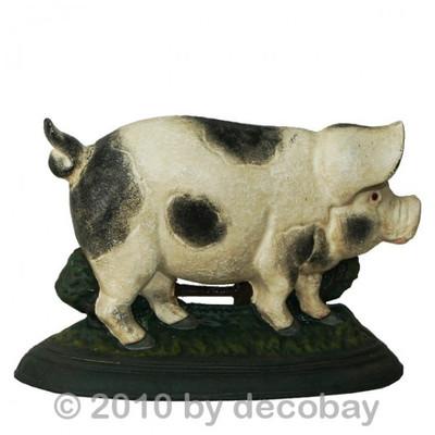 Türstopper als Schwein Figur zur Dekoration und als Halter für eine Tür kaufen.