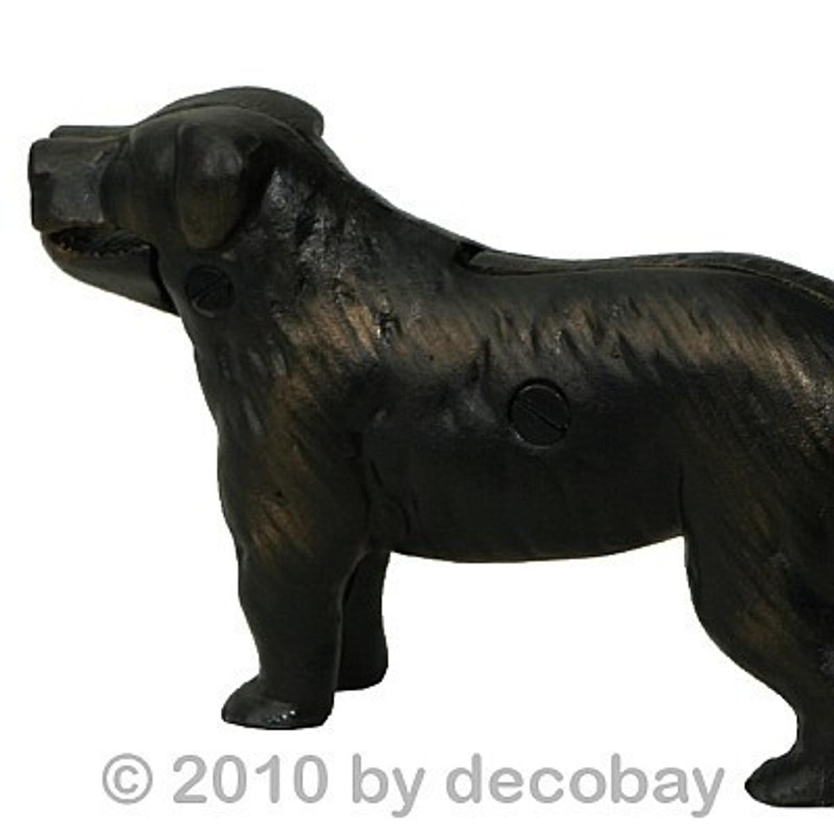 Nussknacker Figur Hunde Form Dekoration Nüsse knacken nicht nur zu Weihnachten eine tolle Dekoration.