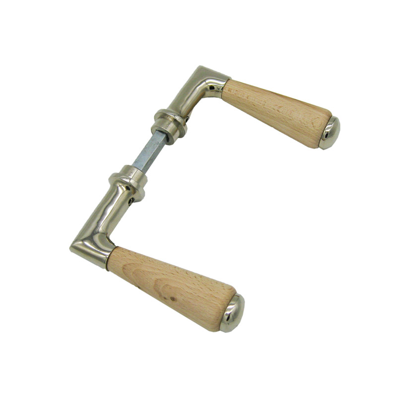 Innentür Landhaus Türgriffe Nickel mit Buche Kombination aus unserem Eisenwaren Shop online kaufen und liefern lassen.