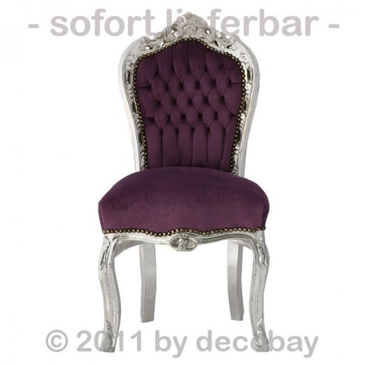 stuhl alt stuehle barock esstisch stuh lila silber f r romantisches m dchenzimmer oder anmutig. Black Bedroom Furniture Sets. Home Design Ideas