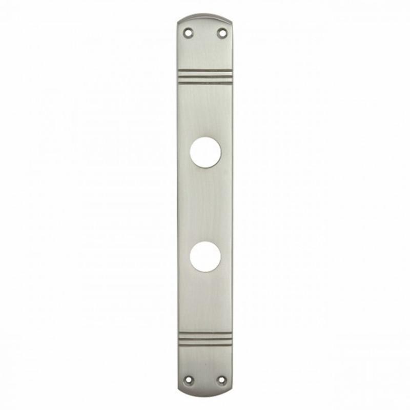 Badezimmer Tür Langschild Türbeschlag Rosette aus Nickel matt für WC 63 Toilettentüren.
