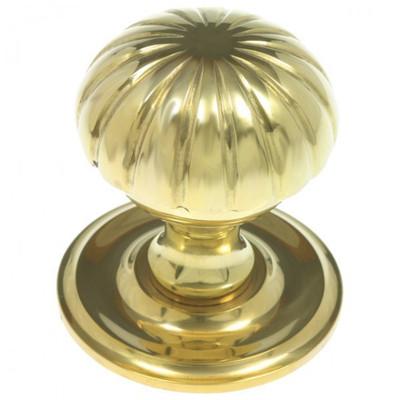 Beschlag Türknopf Knauf aus poliertem Messing für Ihre Tür im nostalgischen edlen Design.