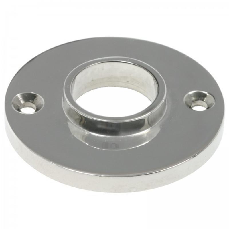 Drückerrosette rund und schlicht aus Nickel als Türbeschlag für Türen und Türgriffe Zubehör.