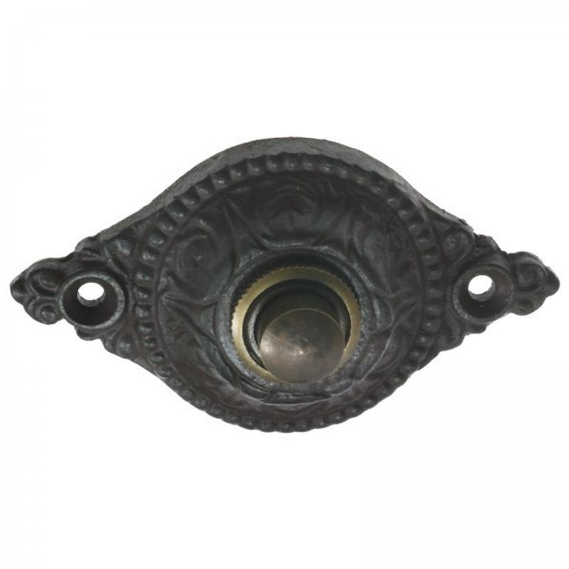 Schellen Klingel Knopf aus Eisen Antik gestaltet für Haustür und Wohnungstür kaufen.