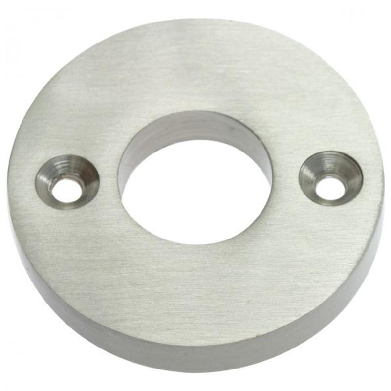 Zimmertür gestalten mit dieser runden Griff Drücker Rosette aus mattem Nickel.