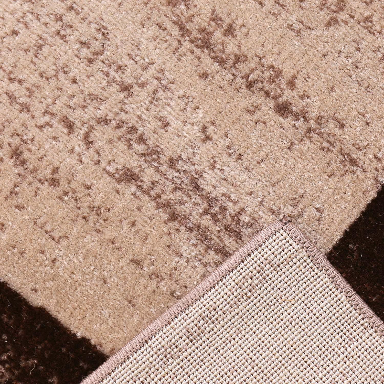 Moderner designer wohnzimmer teppich geometrisches muster meliert ...