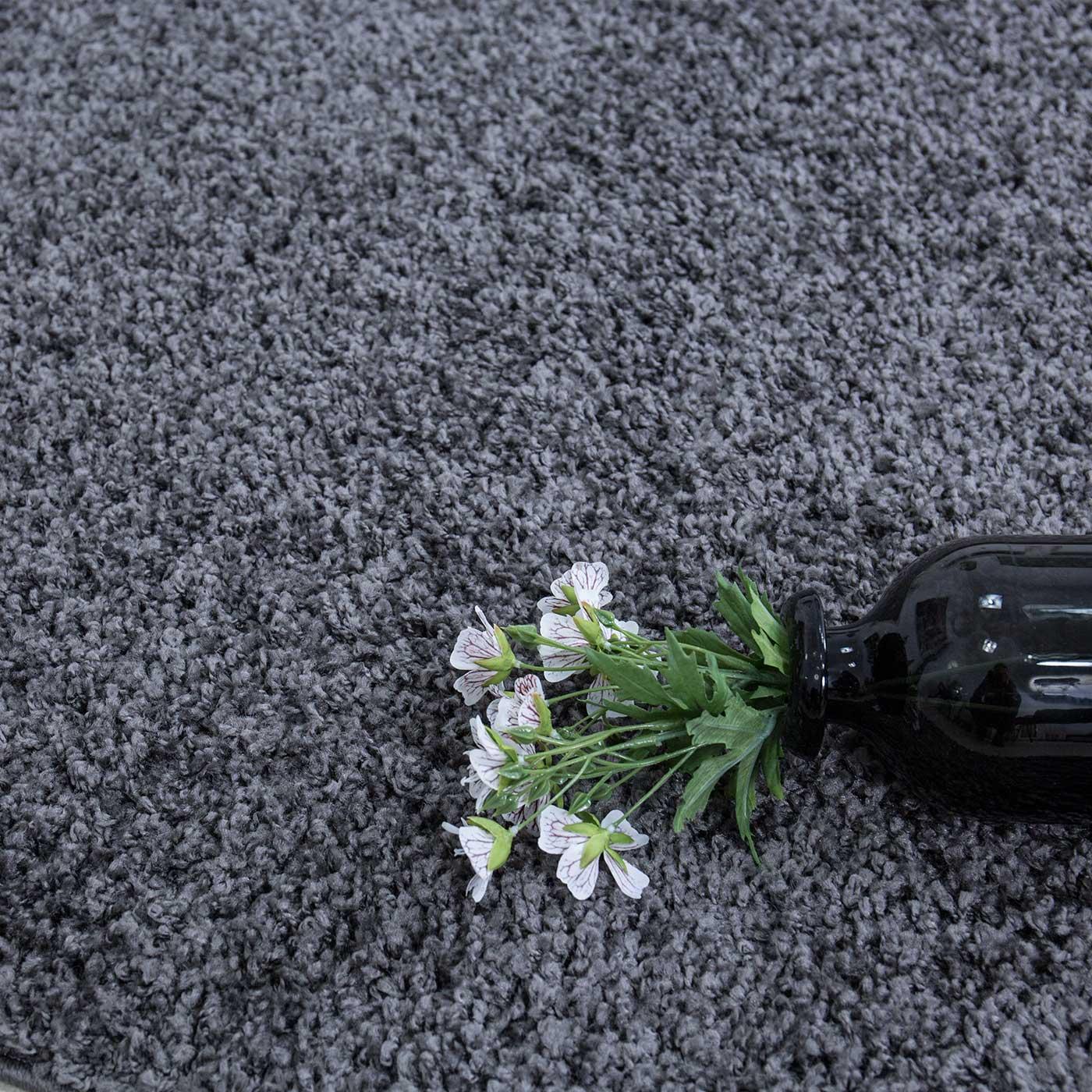 Shaggy Teppich Hochflor Langflor Teppiche Wohnzimmer: Teppich Hochflor Shaggy Teppiche Langflor Anthrazit