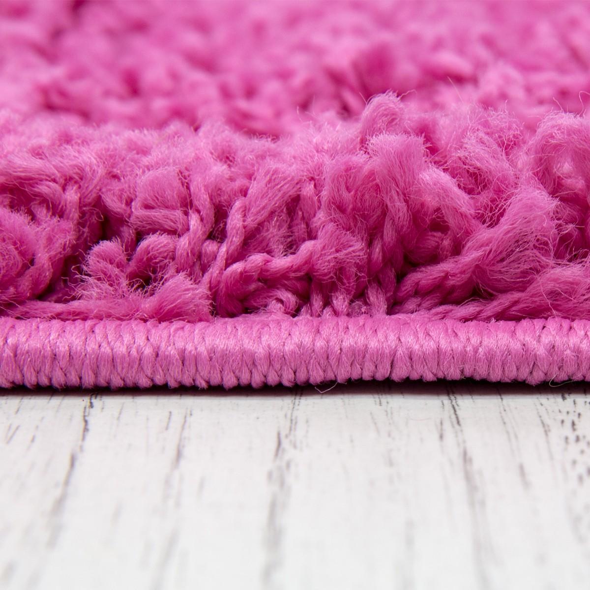 Shaggy Teppich Hochflor Langflor Teppiche Wohnzimmer: Teppich Hochflor Shaggy Teppiche Langflor Pink Wohnzimmer