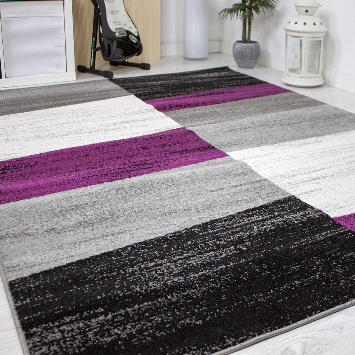 Designer Schlafzimmer Teppich Geometrisches Muster Meliert ...