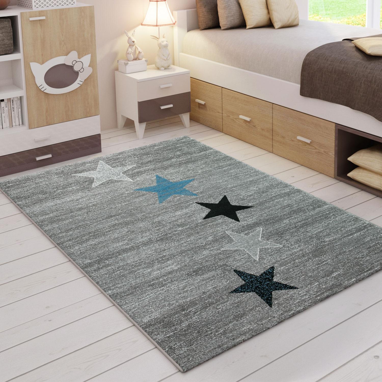 Teppich Schwarz Grau Turkis Sternenmuster Ebay