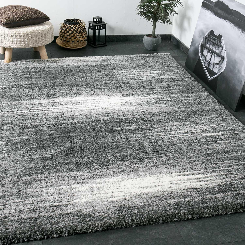 shaggy teppich extra flauschig dicht gewebt hochflor farbe grau weiss exclusiv ebay