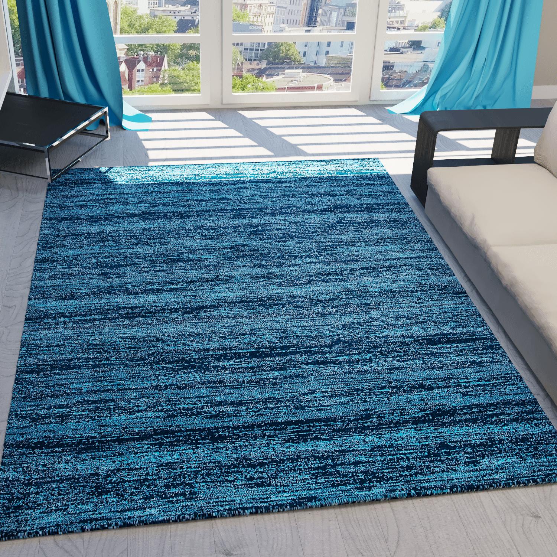 moderner teppich kurzflor meliert in 8 farben robust qualit t top seller ebay. Black Bedroom Furniture Sets. Home Design Ideas