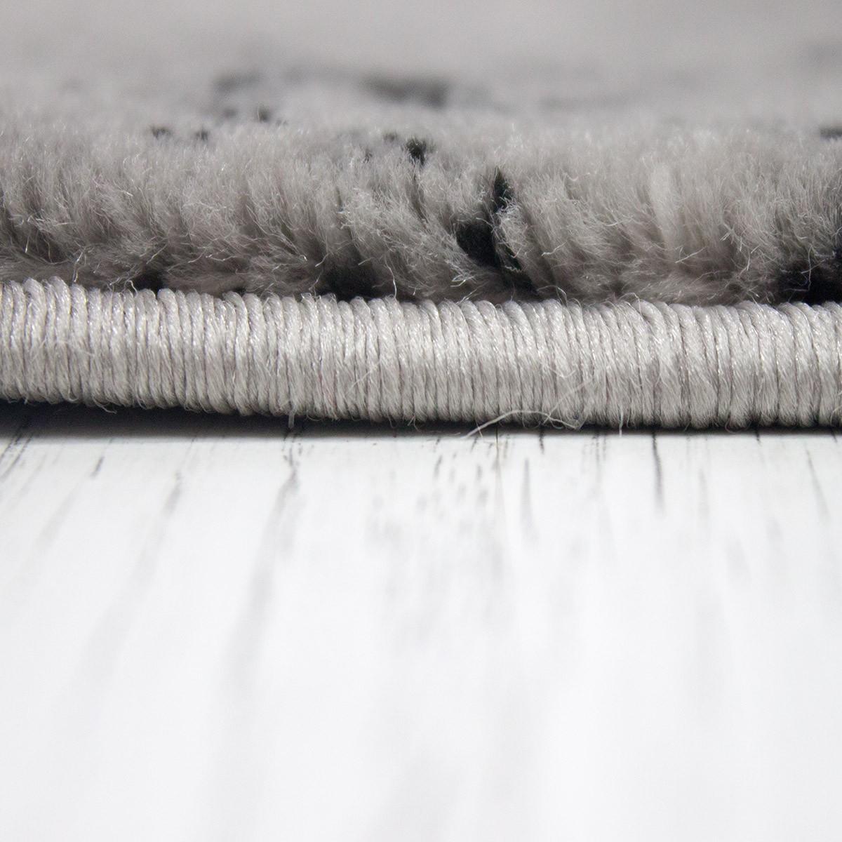 Tappeto Di Design Moderno Pietra Muro Ottica in grigio ...