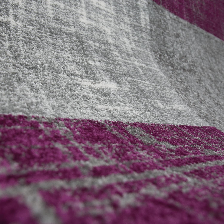 wohnzimmer teppich modern kurzflor lila grau wei kariert. Black Bedroom Furniture Sets. Home Design Ideas