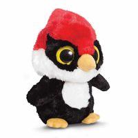Aurora World Plüschtier Yoohoo & Friends Woodee Woodpecker 18 cm schwarz/rot/weiß
