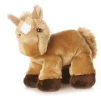 Mini Flopsies Pferd Prancer hellbrown mit blesse 20,5 cm