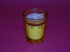 Votivglas orange rund