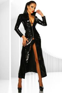 Zugeschnürt Shop - Wadenlanger Mantel aus Lack schwarz – Bild $_i