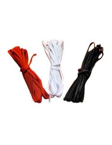 Zugeschnürt Shop - Schnur für Korsett und Corsage - Schwarz, Weiß, Rot (Meterware) – Bild 1