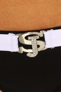 SAMEGAME - Triangel Bikini mit Push-Up-Effekt schwarz/weiß – Bild $_i