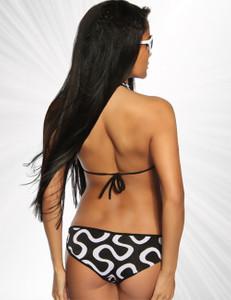 Saresia - Aufregender Monokini mit Aussparungen und Zierringen in schwarz/weiß – Bild $_i
