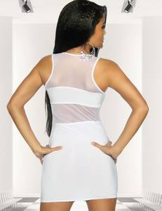 Saresia - Semitransparentes Mini-Kleid in weiß – Bild $_i