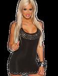 Saresia - Kurzes Club-Kleid mit Strasssteinverzierung in schwarz 001