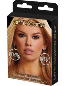 "Ann Devine - Strass-Ohrringe ""Horny"" in silber – Bild $_i"