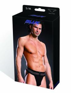 BLUE LINE - Schwarze Jock Strap Unterhose