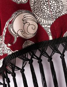 Zugeschnürt Shop - Fransenjäckchen in dunkel rot – Bild $_i