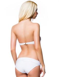 Zugeschnürt Shop - Balconnet Bikini in weiss – Bild $_i