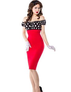 Belsira - Vintage Kleid in rot mit Polka Dot Muster – Bild $_i