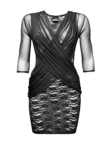 Noir Handmade - schwarzes Tüll Kleid FLIRTY F113b – Bild $_i