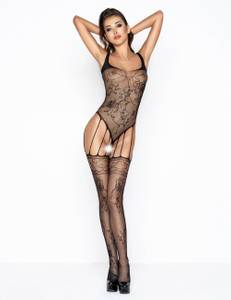 Passion - BS034b Bodystocking schwarz – Bild $_i