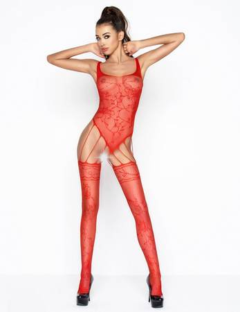 Passion - BS034r Bodystocking rot – Bild $_i