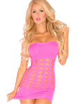 Pink Lipstick - Minikleid in pink mit Cut Outs 001