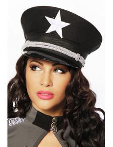 Zugeschnürt Shop - Schwarze Offiziersmütze