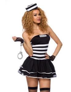 Zugeschnürt Shop - Sexy Häftlings Kostüm Set – Bild $_i