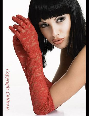 Chilirose - Rot Gloria Lace Gloves