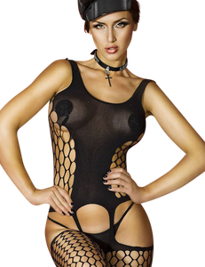 Chilirose - CR 3282 Schwarz Bodystocking  – Bild $_i