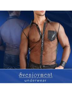 Svenjoyment - Herren-Shirt mit Wetlook-Details